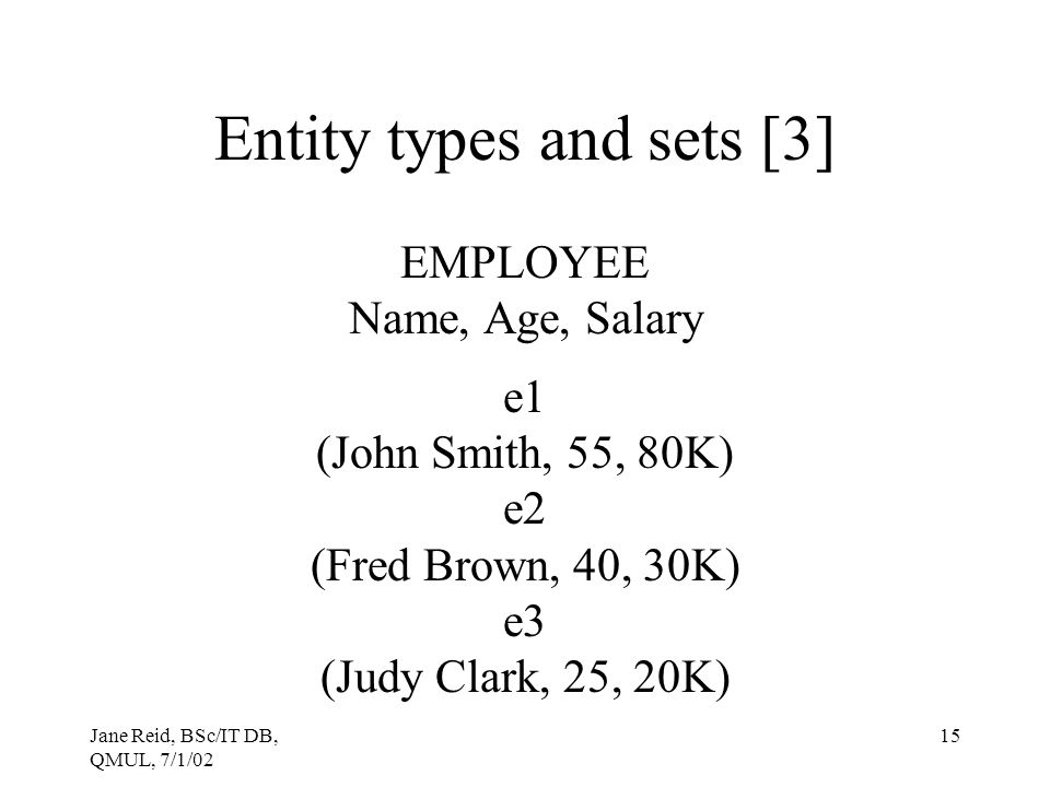 Entity types and sets [3]